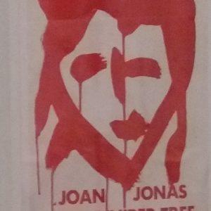 Joan Jonas Ankündigung von The Juniper Tree, ausgestellt in der Ausstellung Joan Jonas in der Tate Modern